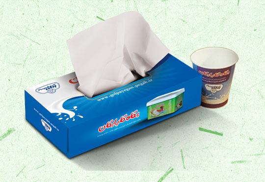 تولید دستمال کاغذی با برند شما